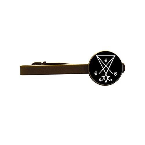 Broche de corbata Ritual Altar Satán 666 Lucifer Demonio Demoníaco Joyería de Moda-#10