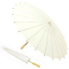 DISOK - Parasol Papel Bambú Marfil