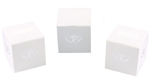 Hortense B. Hewitt Wedding Accessories 25-Pack Linked at Heart Favor Boxes, White by Sourced Wit