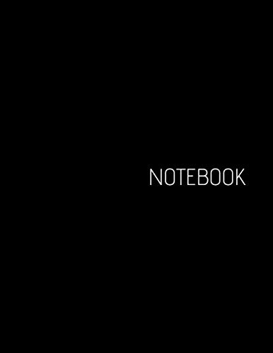 Notebook: Unlined Large (8,5 x 11 inches) Universal Notebook - Black Cover - 110 Pages