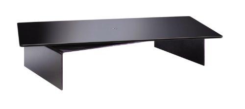 Meliconi Rotobridge Elite M - Supporto con Base in Metallo e Piano Girevole a 360° in Vetro per TV e Monitor PC, Portata massima 70 kg, Nero, M