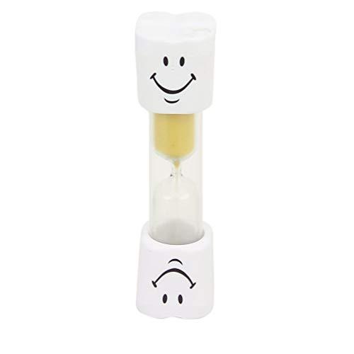 HEALLILY Sanduhr Sanduhr Uhr Lächeln Muster Zahnbürste Timer 3 Minuten Sanduhren Sanduhren für Spiele Klassenzimmer Home Office Küche Dekoration Gelb
