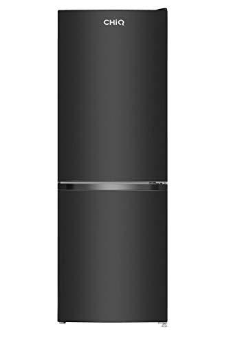 CHiQ FBM157L4 - Frigorífico combi 157L (109L + 48L congelador), Altura 1.44m, Low Frost, Color Negro, compresor con 12 años garantia