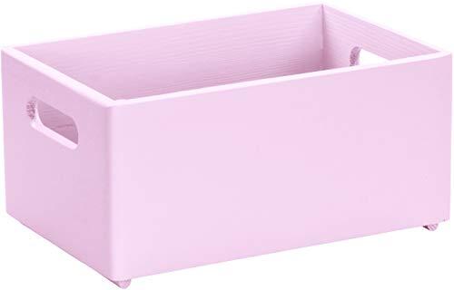 LAUBLUST Große Holzkiste mit Griffen - 30x20x14cm, Rosa, FSC®   Allzweck-Kiste und Aufbewahrungskiste   Spielzeug-Kasten   Deko-Kiste zum Basteln   Spielzimmer Einrichtung   Geschenk-Verpackung