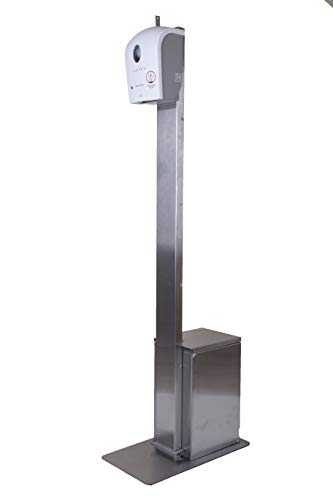 DSA - Dispensador automático de gel y jabón, 5 litros, acero inoxidable