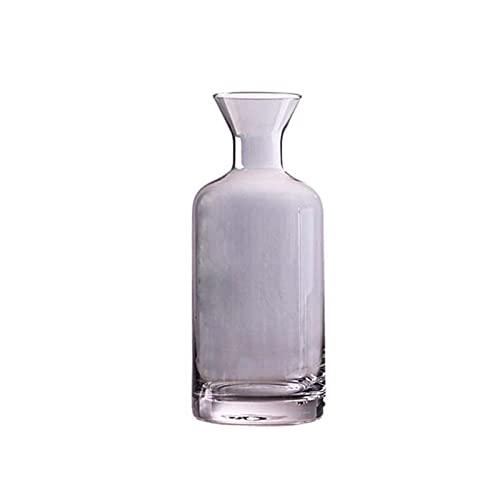 Jarra sin goteo de 45 onzas con tapa de corcho, jarra de agua de vidrio, jarra de nevera de vidrio, máquina de té de hielo (color gris)