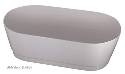 Calmwaters® - Honest - Ovale Badewannenschürze in Weiß aus Acryl für freistehende Badewannen in 180 x 80 cm - 03SL3165