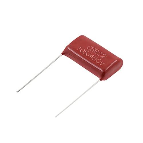 QIANGQRFV Condensadores 10pcs 400v105 1uf Pitch 20mm 400V 105 1000NF CBB Polypropylene Film Capacitor