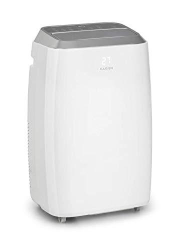 KLARSTEIN Iceblock Prosmart - Climatiseur mobile, Refroidissement, Déshumidification, Ventilation, Classe A, WiFi: contrôle Via App, 4 roulettes, 12.000BTU - Blanc