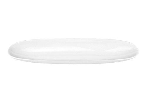 Van Well Geschirr-Serie Avanti-Kollektion, Porzellan zum Servieren für Privat und Gastronomie, Baguette-Schale 35cm