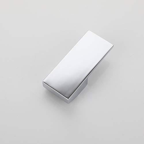 Wasserhahn-Hebel mit Heiß- und Kalt-Farbtaste für Einhandmischer mit 35 mm Kartusche – Universal-Ersatz-Metall-Hebelgriff, poliertes Chrom (35 mm)