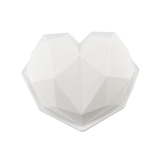 2 moldes de silicona para repostería, diseño de corazón con corazones