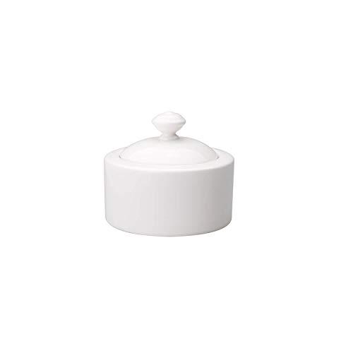 Villeroy & Boch Twist White Sucrier, Porcelaine Premium, Blanc