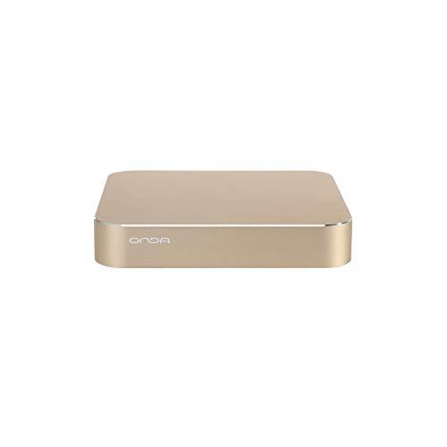 ONDA M3-B81 Windows 10 Intel Celeron G1840 Mini PC, RAM: 4 GB, ROM: 120 GB, unterstützt WiFi/HDMI/Bluetooth/VGA (Gold)