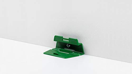 Parador Leistenclips aus Kunststoff - Befestigungsclips zur Montage von Bodenleisten vom Typ SL 2, HL 1, HL 2 und HL 3 - Set mit 24 Stück…