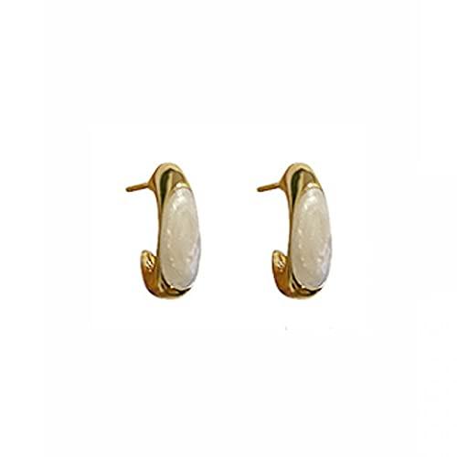 S925 aguja de plata esmalte francés goteo esmalte pendientes de moda cuadrados mini temperamento simple retro pendientes de moda fría pendientes pendientes