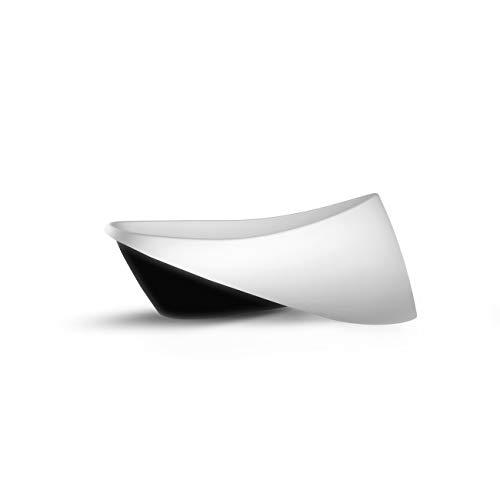 Freistehende Badewanne aus Mineralguss ZICCO EMOTION BLACK 197x96x76 cm weiss glänzend Mineralguss