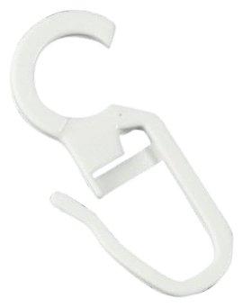 Bandex Sachet de 100 crochets à clipser, Blanc, 10 mm