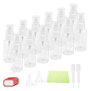 BIGKASI 10 pcs de Set Bote hermético 50ml de Botella rellenables plástico de Bote pequeño para Viaje en avión (Transparente)