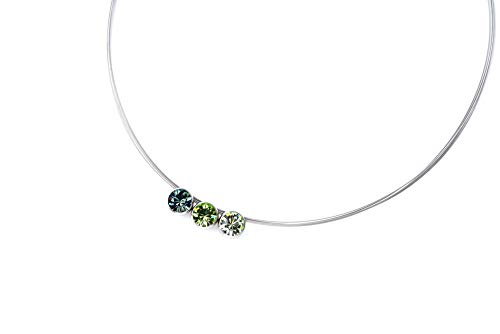 Hegedüs Collier Trio aus Titan mit Swarovski® Kristallen - Peridot