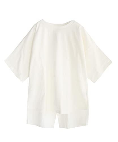 [ズーティー] zootie 汗しみない Tシャツ[バックスリット] オフホワイト M-L