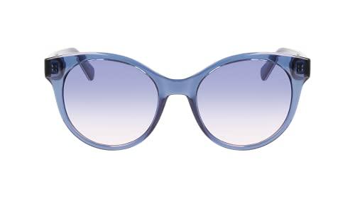 Calvin Klein Gafas de sol redondas para mujer Ckj21628s, Azul / Patchwork, M
