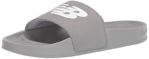 New Balance Men's 200 V1 Slide Sandal, Grey/Grey, 5