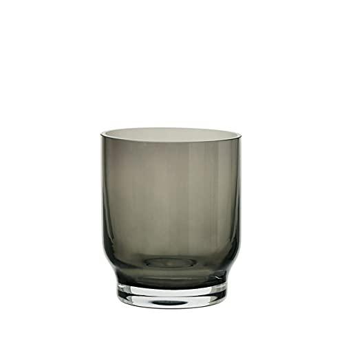 blomus Lungo 64172 - Juego de 2 vasos (cristal, 250 ml), color gris