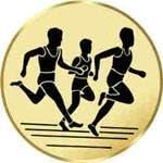 Motiv Laufen Sportland Pokal//Medaille Emblem Durchmesser 50 mm Durchmesser S.B.J