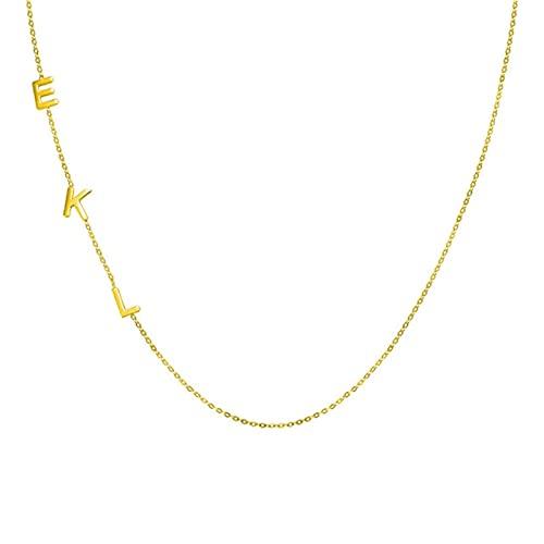 TTGE Collar Personalizado con Letra Inicial, Gargantilla con Colgante de Nombre Personalizado, clavícula de Voto, joyería de Plata 925 para Mujer