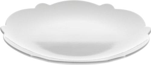 Alessi Mw01/5 Dressed Assiette à dessert en Porcelaine Blanche avec Décoration en Relief, Set de 4 Pièces
