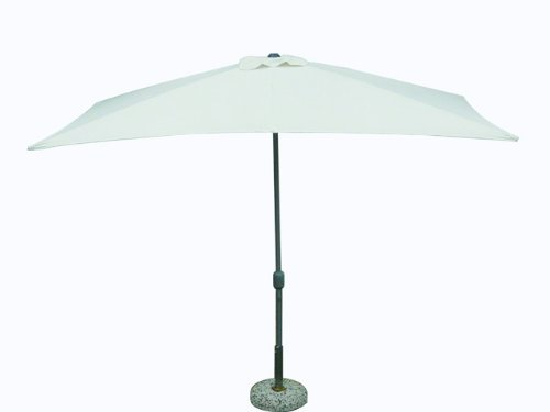 Maffei Art 221 Parasol rectangulaire cm 300x200, Tissu Polyester, Monture Acier, manivelle. Made in China. Couleur Ecru.