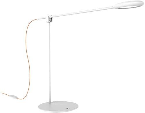 LED-bureaulamp zwenkarm oogverzorgende tafellampen temperatuurinstelbare helderheid dimbaar met oranje USB-kabel voor het lezen van kantoor en slaapkamer (wit)