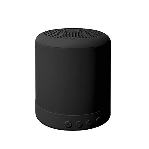 Zubehör Altavoz Bluetooth Súper Portátil, Mini HiFi Sround Sound Sound Inalámbrico Mejorado Bajo 360 ° Sound Sound Scratch Prueba, para El Automóvil iPhone iPad Portátil(Color:Negro)