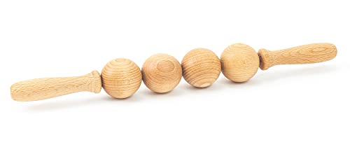 Tuuli Accessories Anti Cellulite Massage Ball Roller Tool Massager Maderotherapy Wooden 15.7 inches…