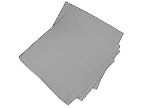 Soleil d'Ocre 838230 Lot de 3 Alix Serviettes de Table Polyester Gris 40 x 40 cm