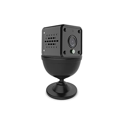 Mini cámara, cámara de seguridad Small HD 1080P, duración de la batería larga, cámara de videollamadas, adecuada para uso en interiores y exteriores, con detección de movimiento y funciones de visión
