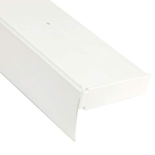 Bestlivings 3-Läufige Vorhangschiene mit Innenlauf aus Kunststoff in 300cm (2x90cm, 1x120cm), Kunststoff Blende WEIß, Gardinenschiene