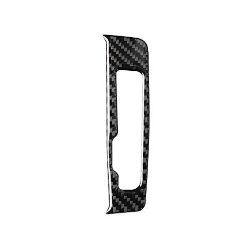 Interior Coche Panel Cambio Marchas Fibra Carbono Marco Botones Pegatinas Y Calcomanías para Automóviles para Audi. para A3 8V 2014-2019 Accesorios Estilo De Coche (Color : RHD)