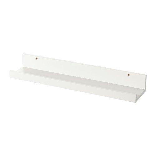 Ikea Estante para Cuadros, Madera, Blanco, 55x12x8 cm
