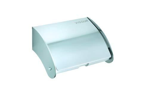 Vigour Clivia Papierhalter mit Deckel, schlichtes Design, passt zu jedem WC