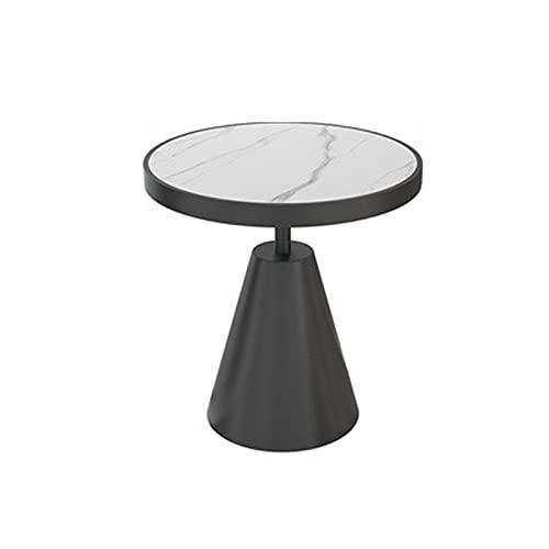 JINLIAN205-SHOP Mesa Auxiliar Tabla de té pequeña Sofá Estilo de Esquina de la Mesa de Ocio Redondo Mesa del Lado de la Mesa for Espacios pequeños Mesa Auxiliar de (Color : White)