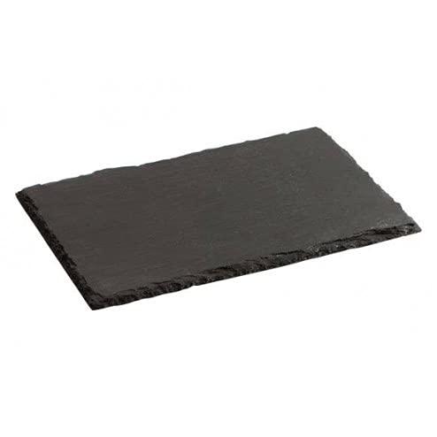4 Platos pizarra natural color negro grafito 30x20 para servir quesos-sushi-postres-tapas-embutido-aperitivos-comida