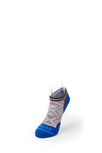 FITS Light Runner – Low: Stylish Men's Running Socks - Grey - XL