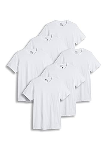 Jockey Men's T-Shirts Big & Tall Classic Crew Neck T-Shirt- 6 Pack, White, lt