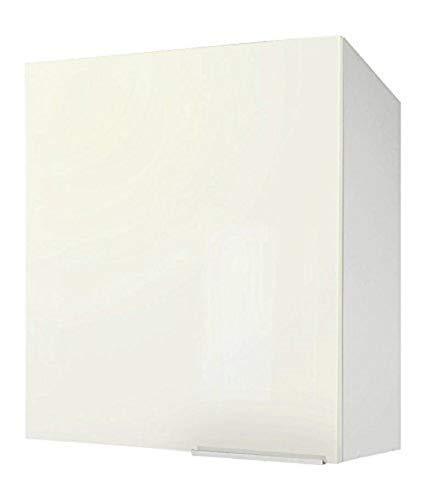 Berlioz Creations CP6HI Eintüriger wand Küchenschrank Hochglanz Elfenbein 60 x 34 x 70 cm