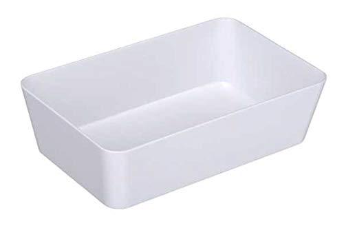 WENKO DIE BESSERE IDEE Bac de Rangement Plastique, 22x14x6 cm, Candy Blanc