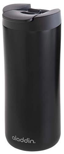 Aladdin Leak-Lock™ Thermobecher, 0.35 Liter, Mattschwarz, Doppelwandig Vakuumisoliert, 18/8 Edelstahl, Auslaufsicher, Spülmaschinenfest, Kaffeebecher Isolierbecher Thermo-Becher