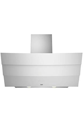 Beko HCA 92640 WH- Campana Decorativa Inclinada de cristal blanco con aspiración...