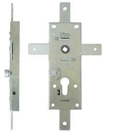 Serrure blindée pour portes basculantes, 4 points de fermeture